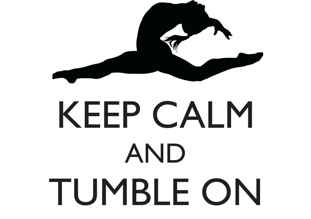 Keep Calm And Tumble On Gymnastics Quote Gym5 22 Quot X22