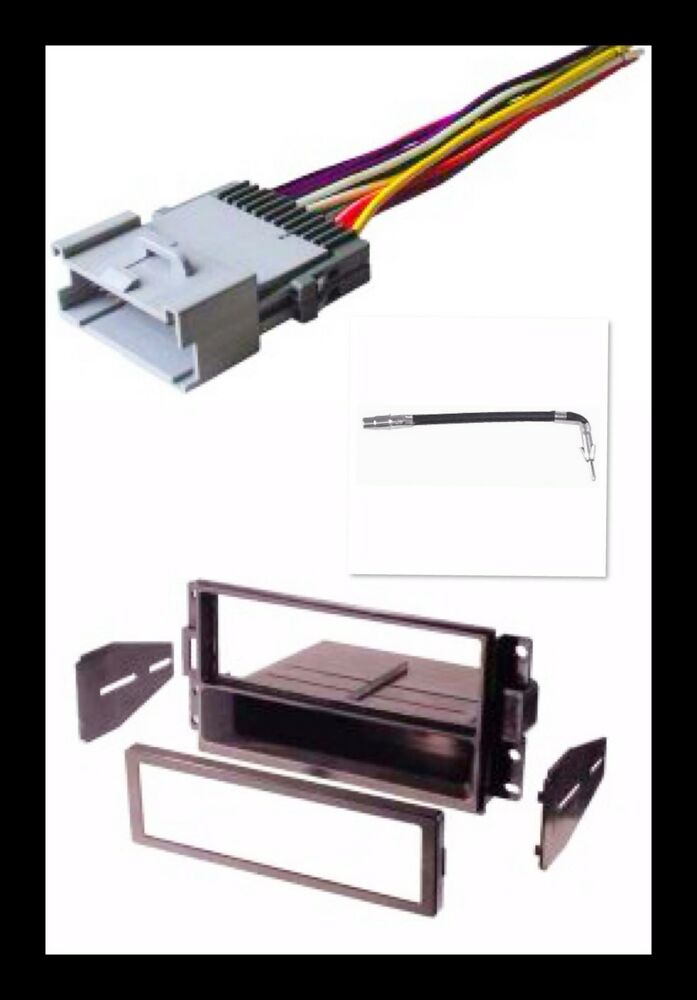 Single din stereo radio install dash kit wire harness