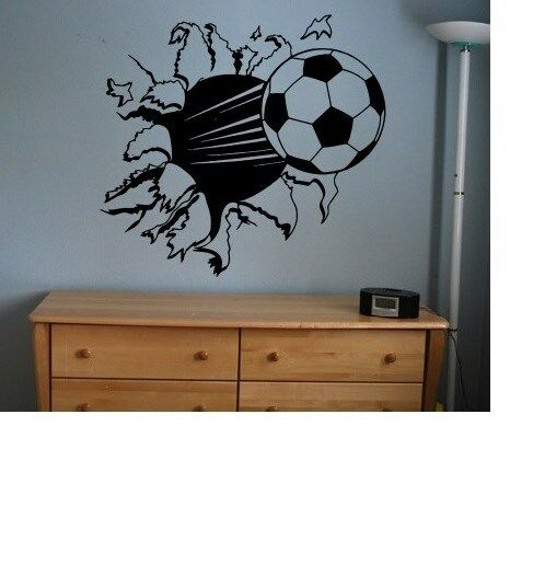 Soccer Ball Sticker Decal Kids Room Decor Sports Football