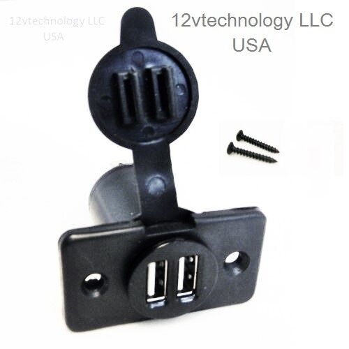 Dual USB Charger Socket 12 Volt Power Outlet For iPhones ...