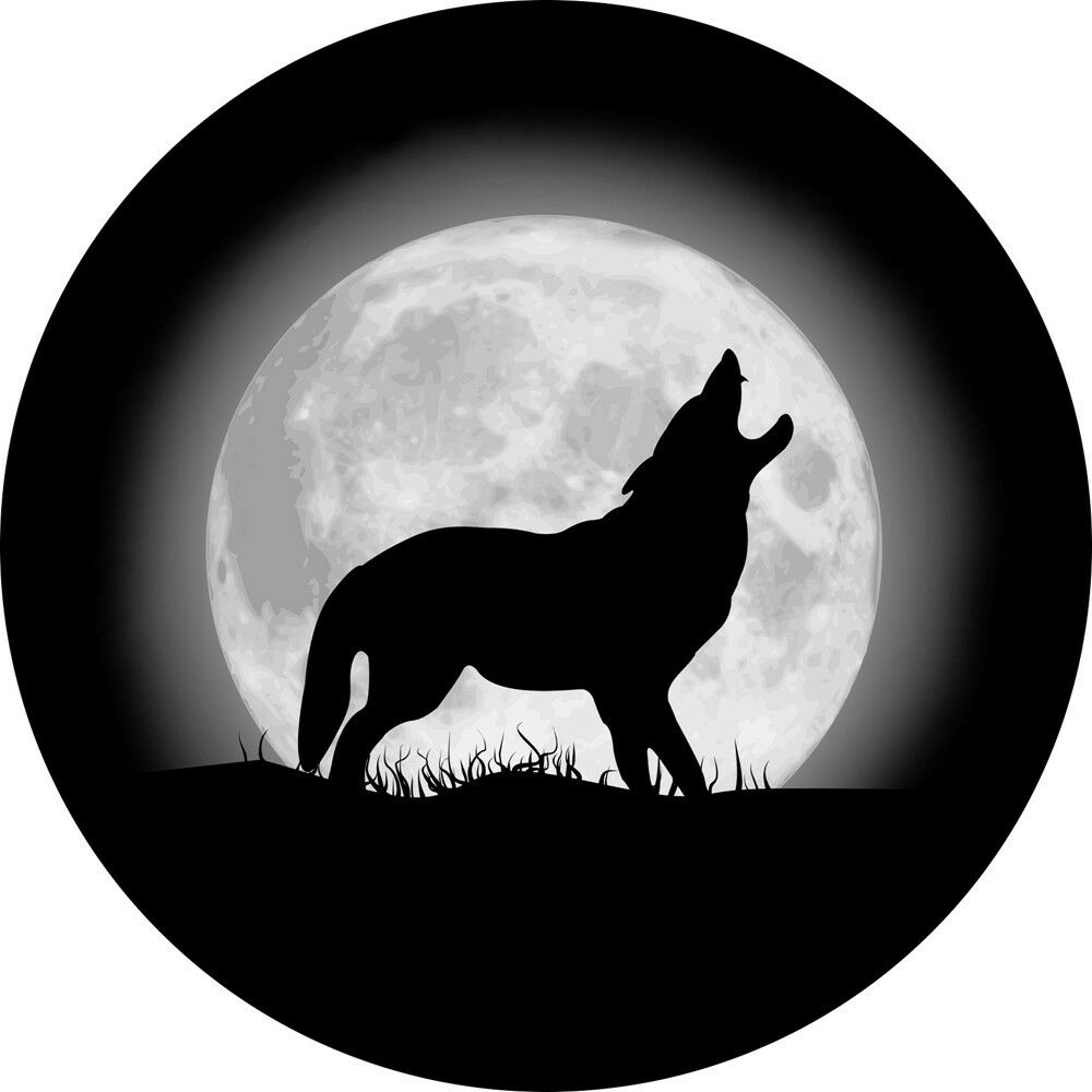Wolf And Moon 2 Spare Tire Cover Wheel Cover Jeep Rv