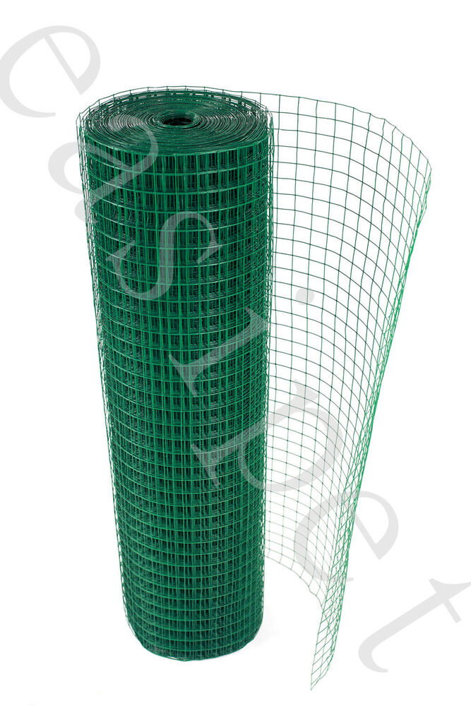 Pvc Coated Wire : Pvc coated welded wire mesh quot m long aviary