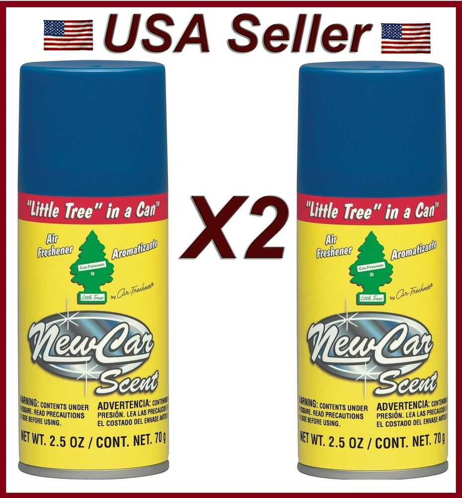 little trees in can air freshener 2 pack new car scent car home office spray ebay. Black Bedroom Furniture Sets. Home Design Ideas