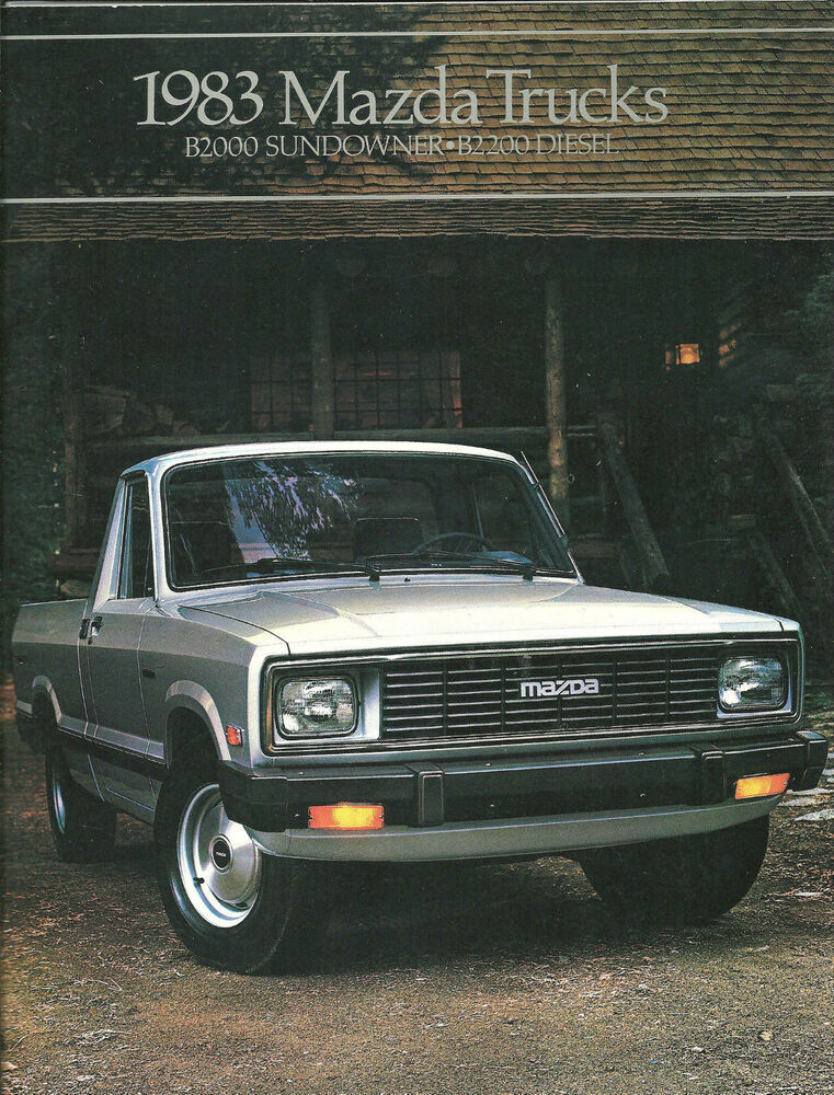 1983 mazda pickup truck brochure catalog b2000 pick up sundowner b 2000 b2200 ebay. Black Bedroom Furniture Sets. Home Design Ideas