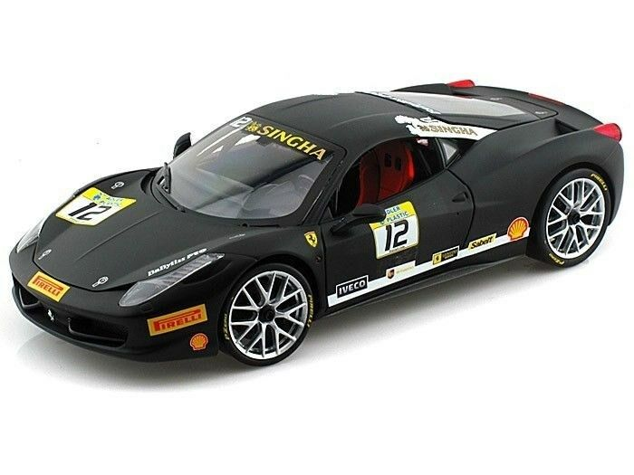 Hot Wheels Ferrari 458 Challenge Racing 12 Black 1 18