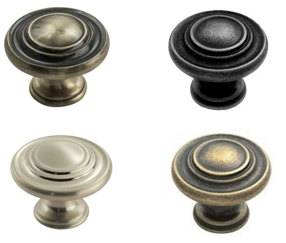 traditional pattern cabinet kitchen wardrobe door knob handle 34mm diameter ebay. Black Bedroom Furniture Sets. Home Design Ideas
