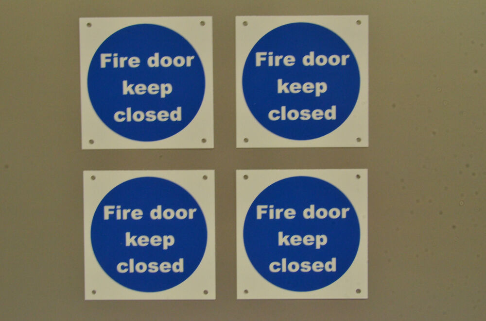 Fire Door Keep Closed Pack Of 4 Fire Safety Signs