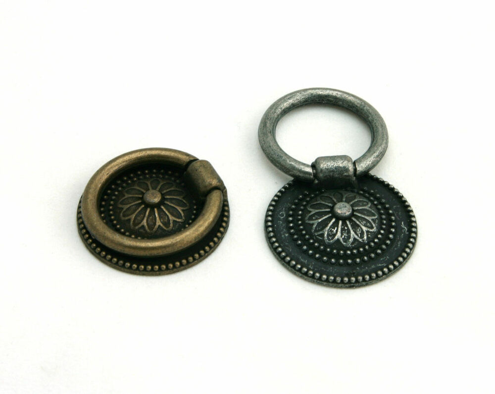 Rp016n antique decorative cabinet drawer drop ring pulls cupboard knobs handle ebay - Drop pulls for cabinets ...