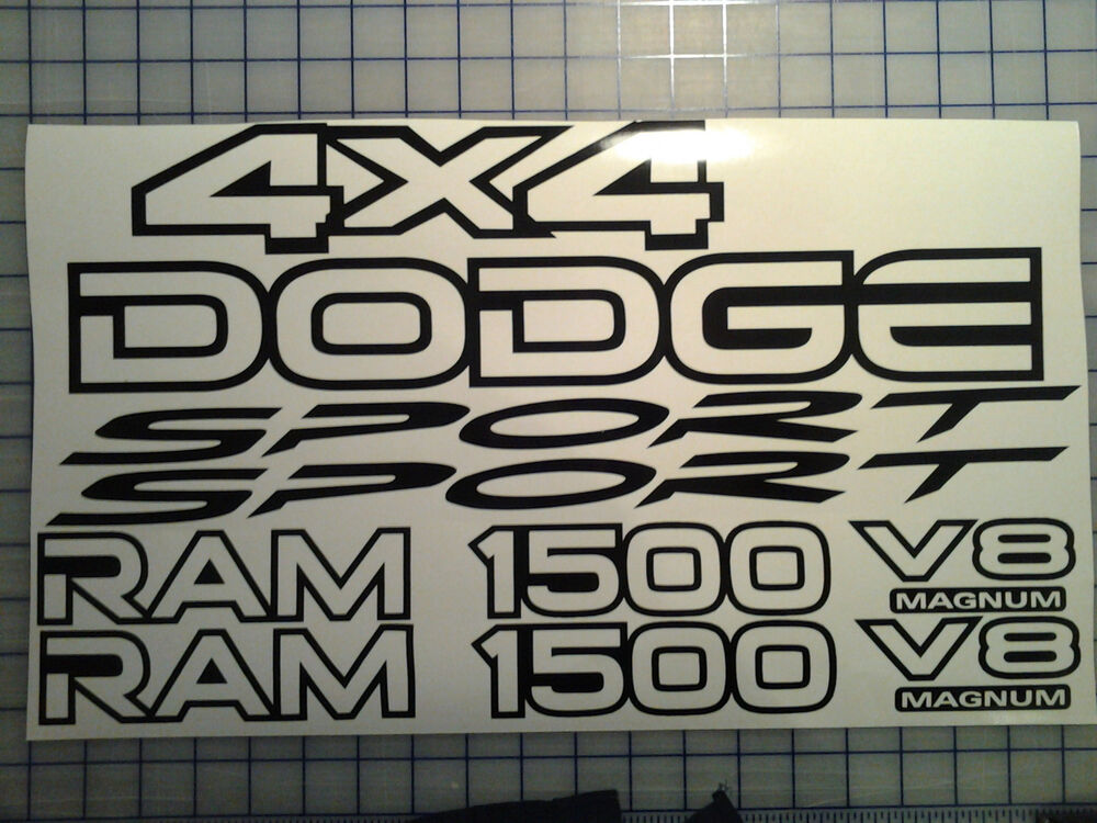 Dodge 1500 Ram Sport 4x4 Replacement Decal Kit Many