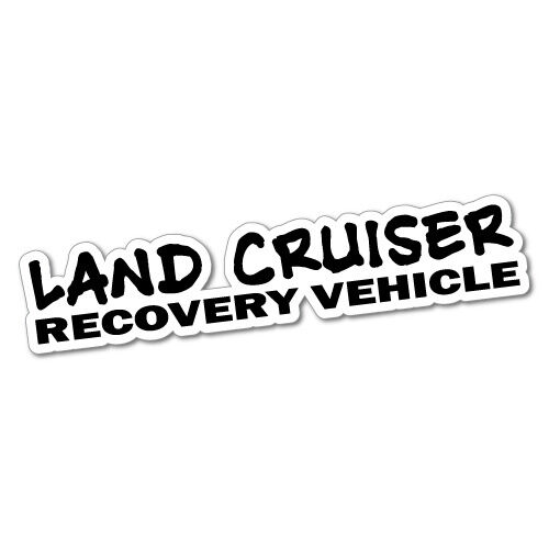 landcruiser recovery vehicle sticker decal 4x4 4wd funny