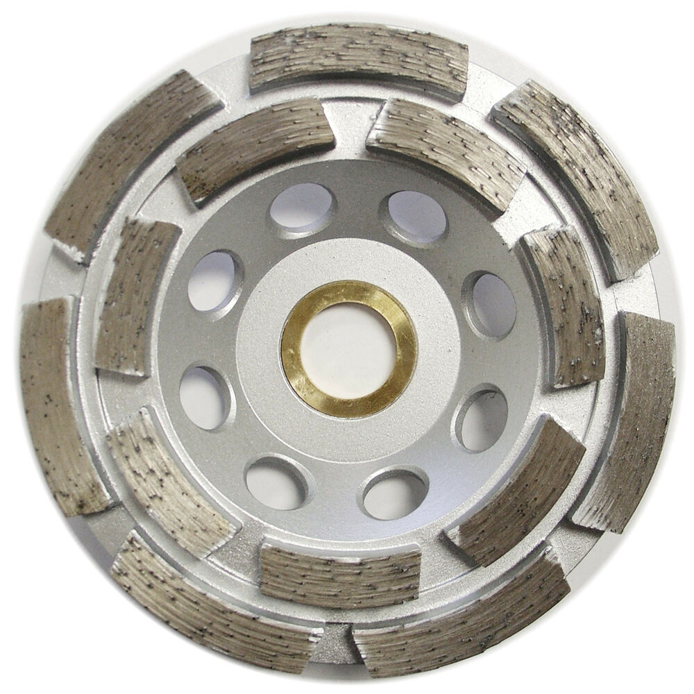 4 Double Row Concrete Diamond Grinding Cup Wheel For