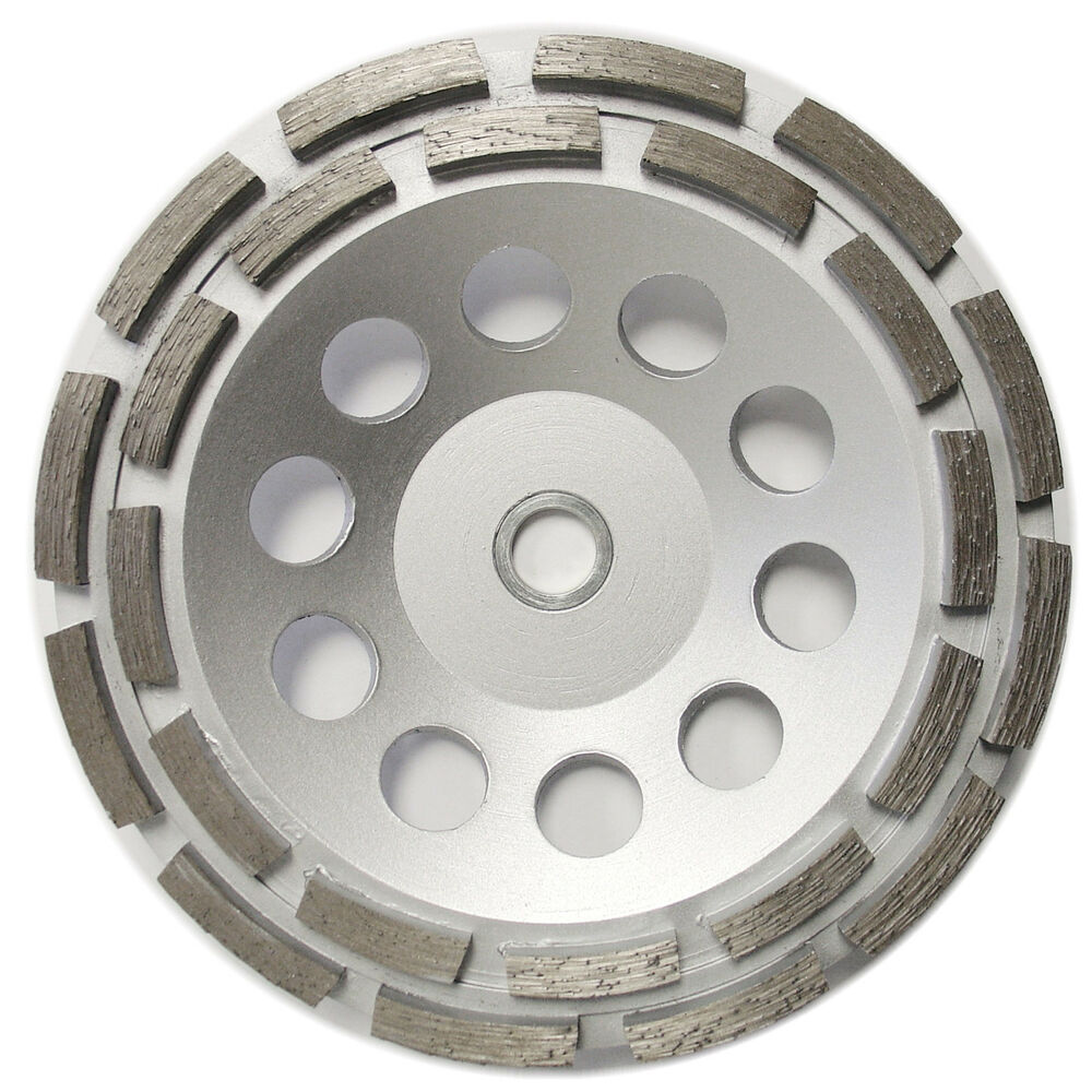 7 Double Row Concrete Diamond Grinding Cup Wheel For