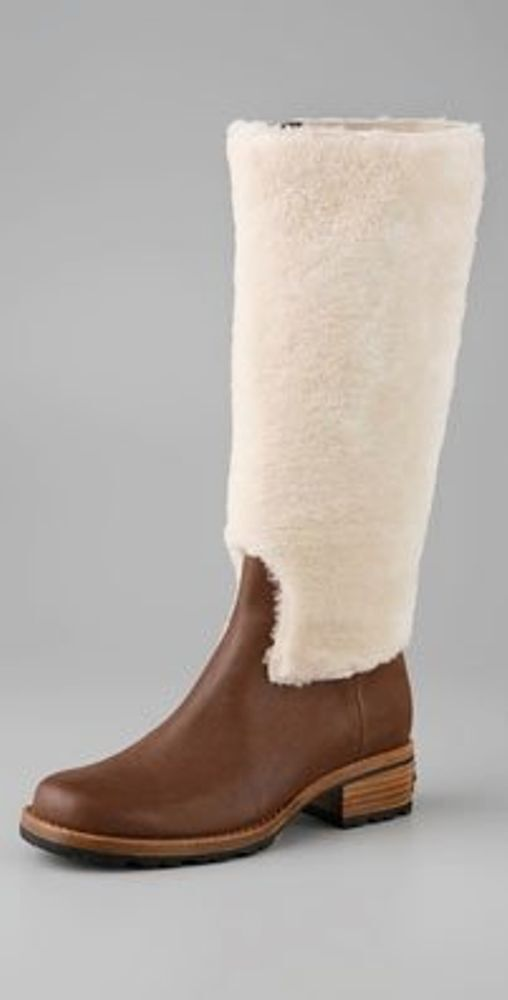 ugg chrystie shearling boots size 6 m
