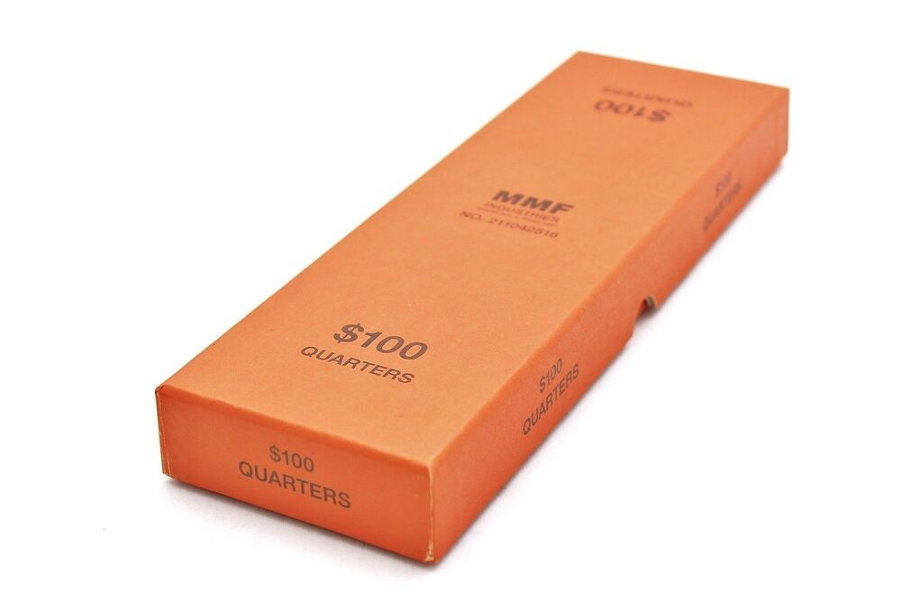 Coin roll storage box for quarter orange in color coin for Money storage box