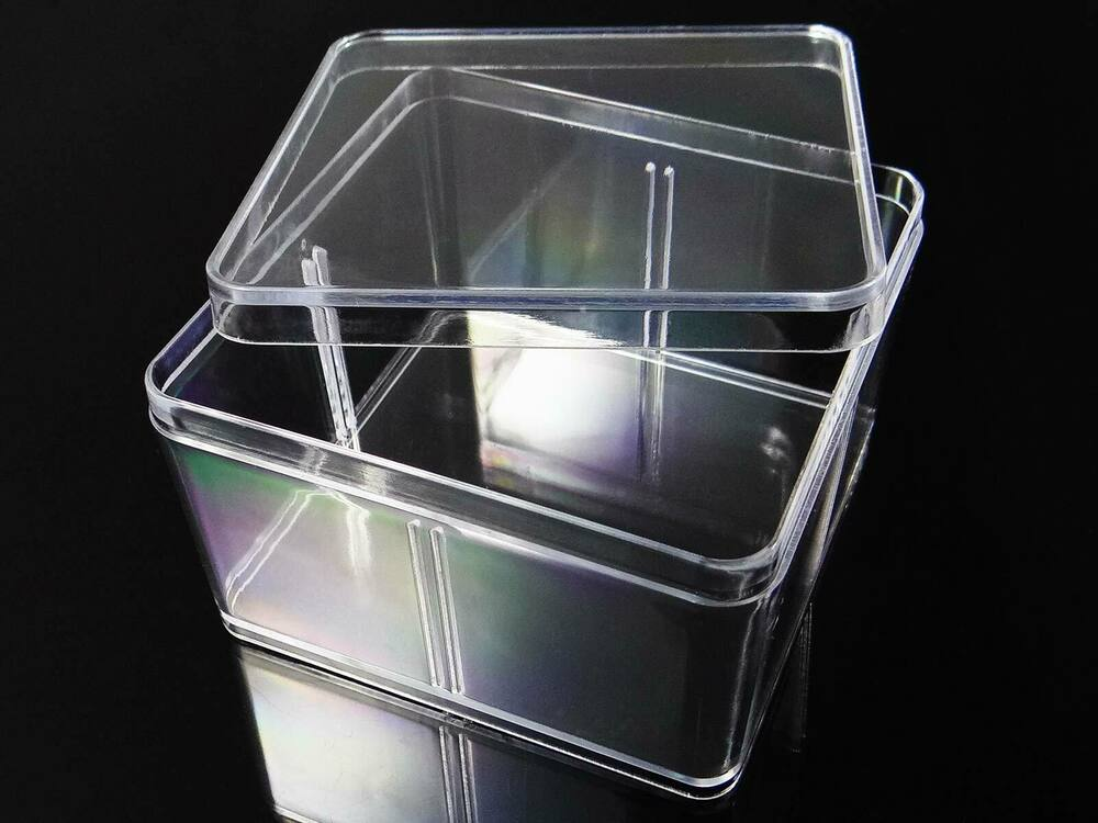 acrylbox stapelbox acryl dose schmuckdose box mit deckel bb 19 ebay. Black Bedroom Furniture Sets. Home Design Ideas
