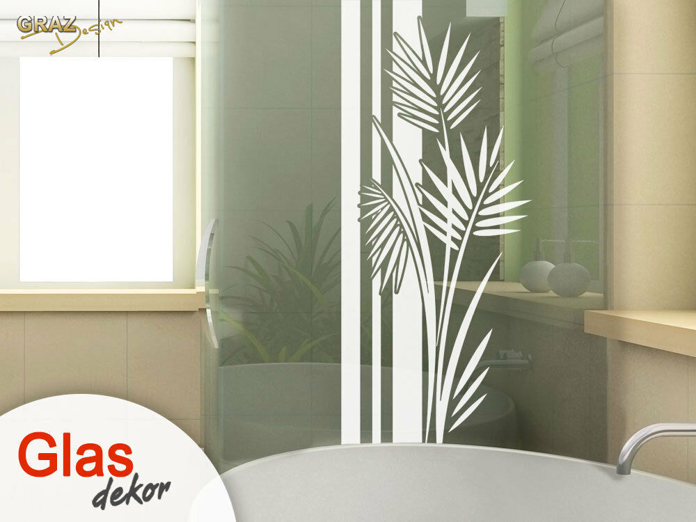 glasdekor fensterfolie aufkleber sichtschutz bad dusche banner wellness ebay. Black Bedroom Furniture Sets. Home Design Ideas