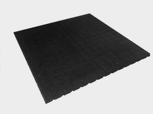 Black 1000 X 1000mm 1m2 Rubber Playground Tiles