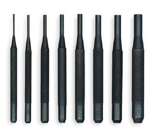8 pc piece pin punch set gunsmithing steel punches m ar 4 16 15 upper lower new ebay. Black Bedroom Furniture Sets. Home Design Ideas