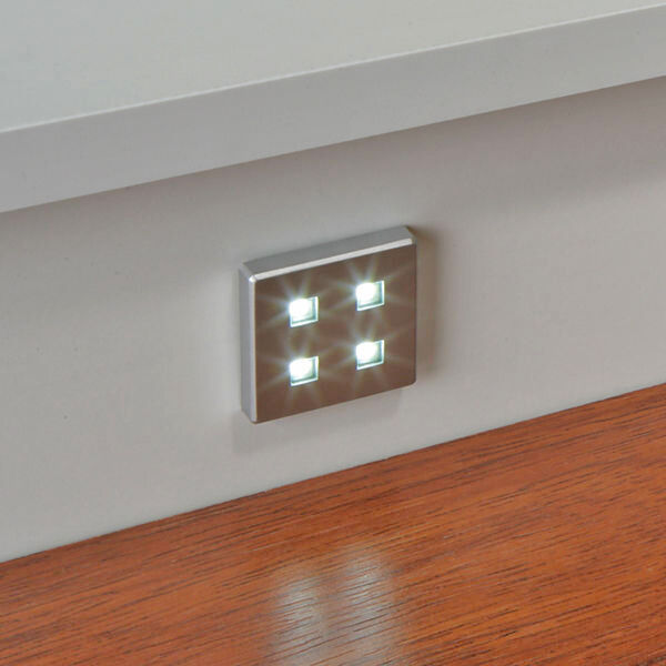 4 X SQUARE KITCHEN LED PLINTH LIGHT KIT COOL WHITE / WARM