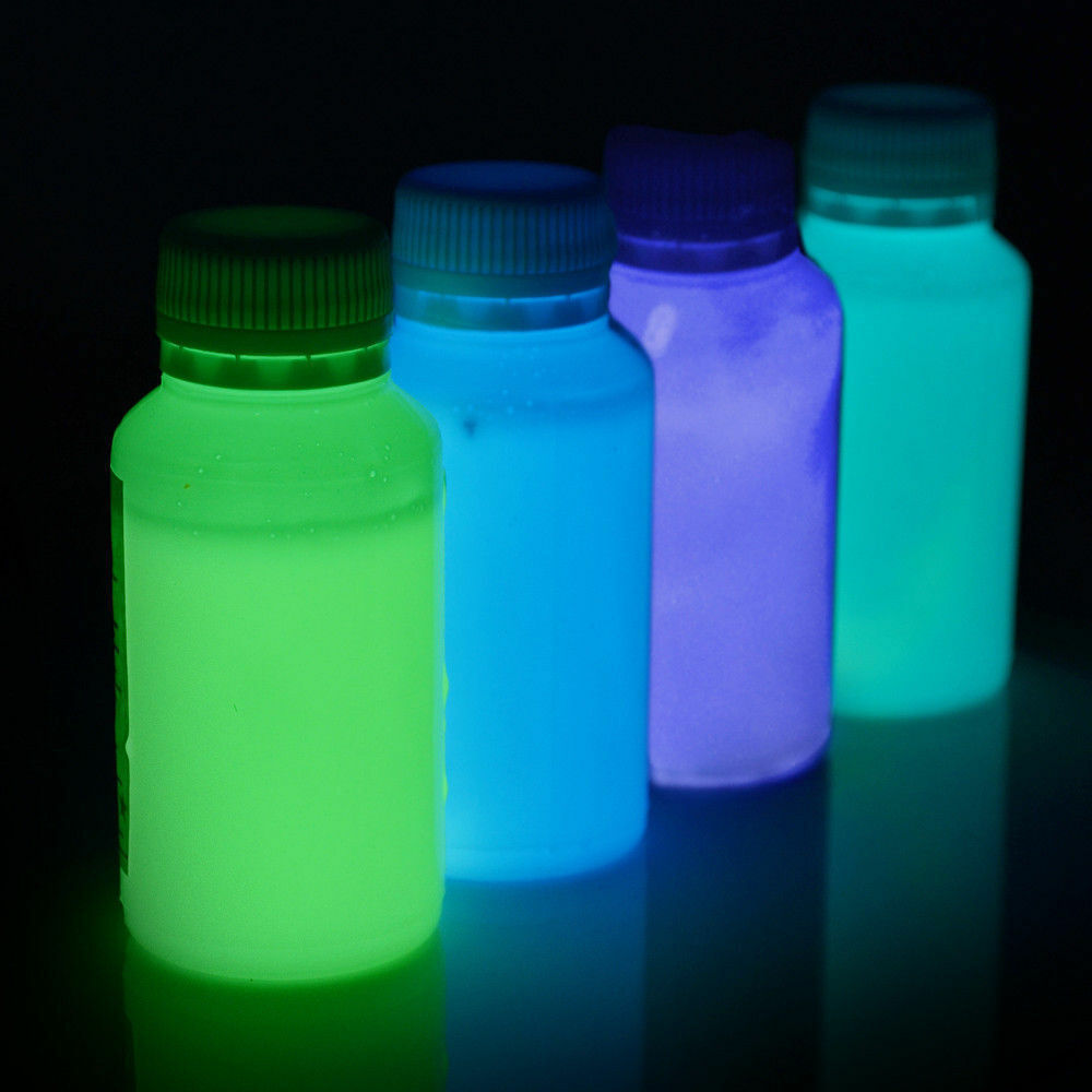 glow in the dark paint gid phosphorescent ebay. Black Bedroom Furniture Sets. Home Design Ideas