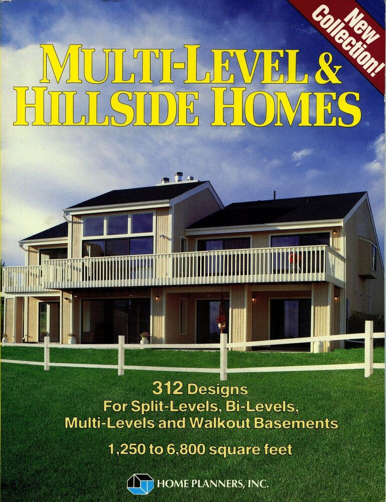 Multi level hillside homes 312 designs split bi multi for Split level house plans with walkout basement