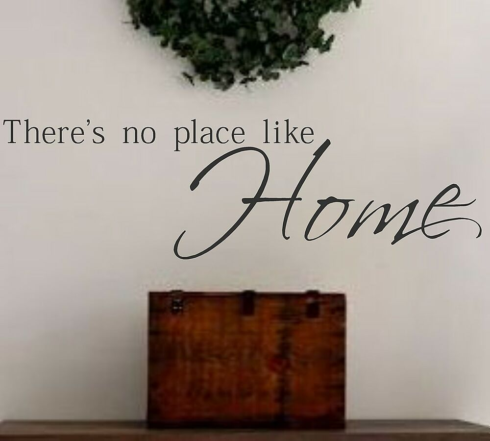 family vinyl wall decal there 39 s no place like home vinyl wall decal lettering ebay. Black Bedroom Furniture Sets. Home Design Ideas