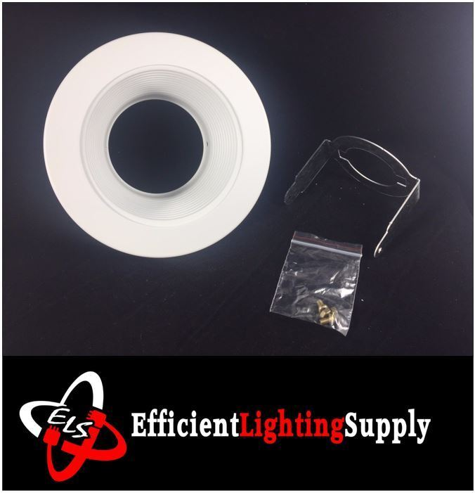 """6 Inch Par30 Adjustable Gimbal Ring Trim White Recessed: 24 PACK 4"""" INCH RECESSED CAN LIGHT TRIM BAFFLE WHITE PAR20"""