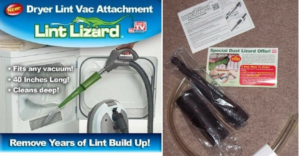 Lint Lizard Dryer Vent Lint Vac Vacuum Removal Attachment