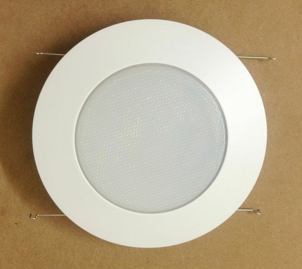 6 Pack 6 Inch Recessed Can Light Shower Trim Frosted Glass Albalite Lens White Ebay