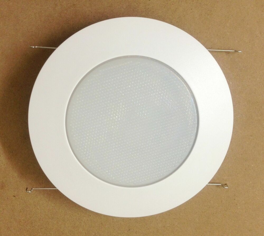 6 PACK 6u0026quot; INCH RECESSED CAN LIGHT SHOWER TRIM FROSTED GLASS ALBALITE LENS WHITE : eBay