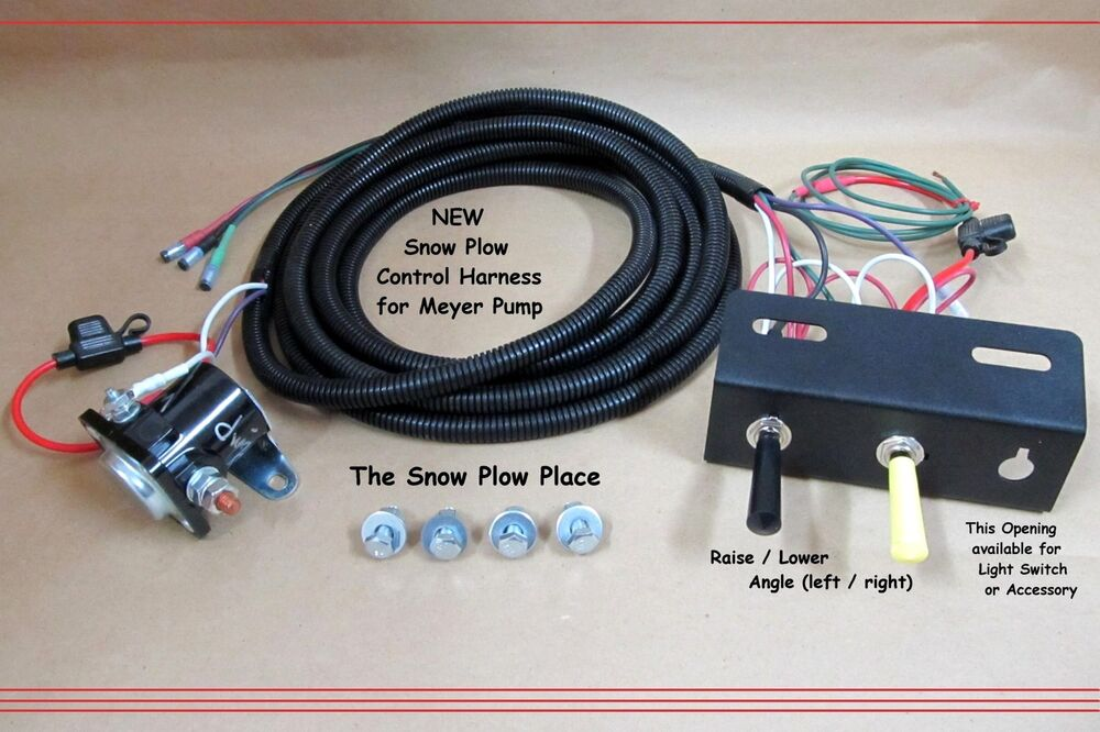 snow plow control wire harness   raise  lower  angle   for