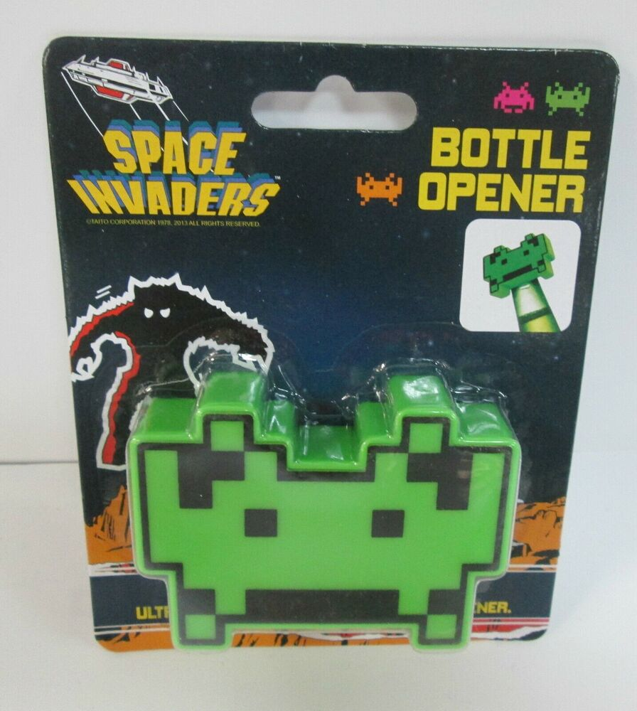 space invaders bottle opener brand new officially licensed product collectible ebay. Black Bedroom Furniture Sets. Home Design Ideas