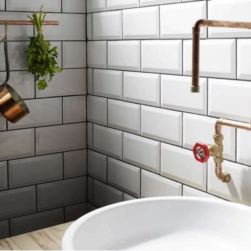 Cheap white subway tile
