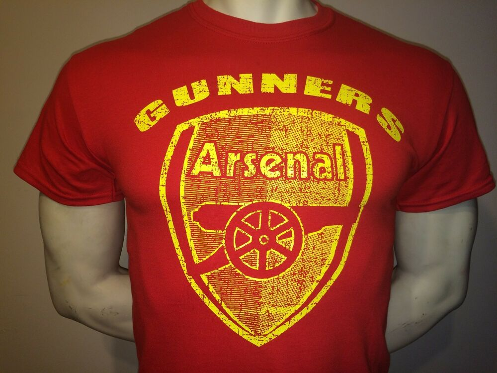 Arsenal England Gunners Tee Shirt Red Small Med Large