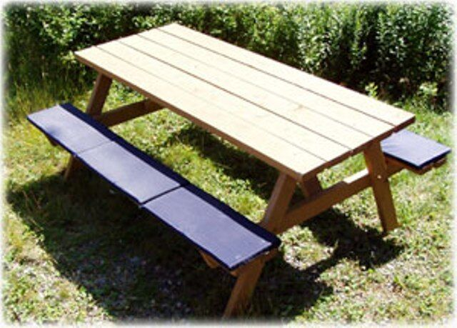 Picnic Table Bleacher Seat Cushion Clearance Blowout