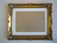 14x11 Inch Gold Shabby Chic Ornate Wooden Picture Frame + Ivory  Mount