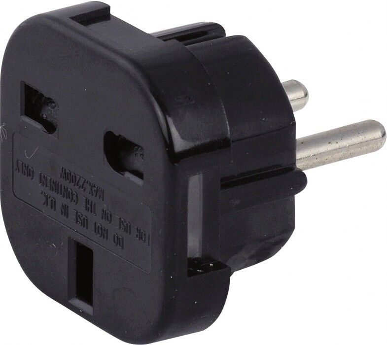 showtec schuko zu uk stecker adapter 230v 240v ebay. Black Bedroom Furniture Sets. Home Design Ideas