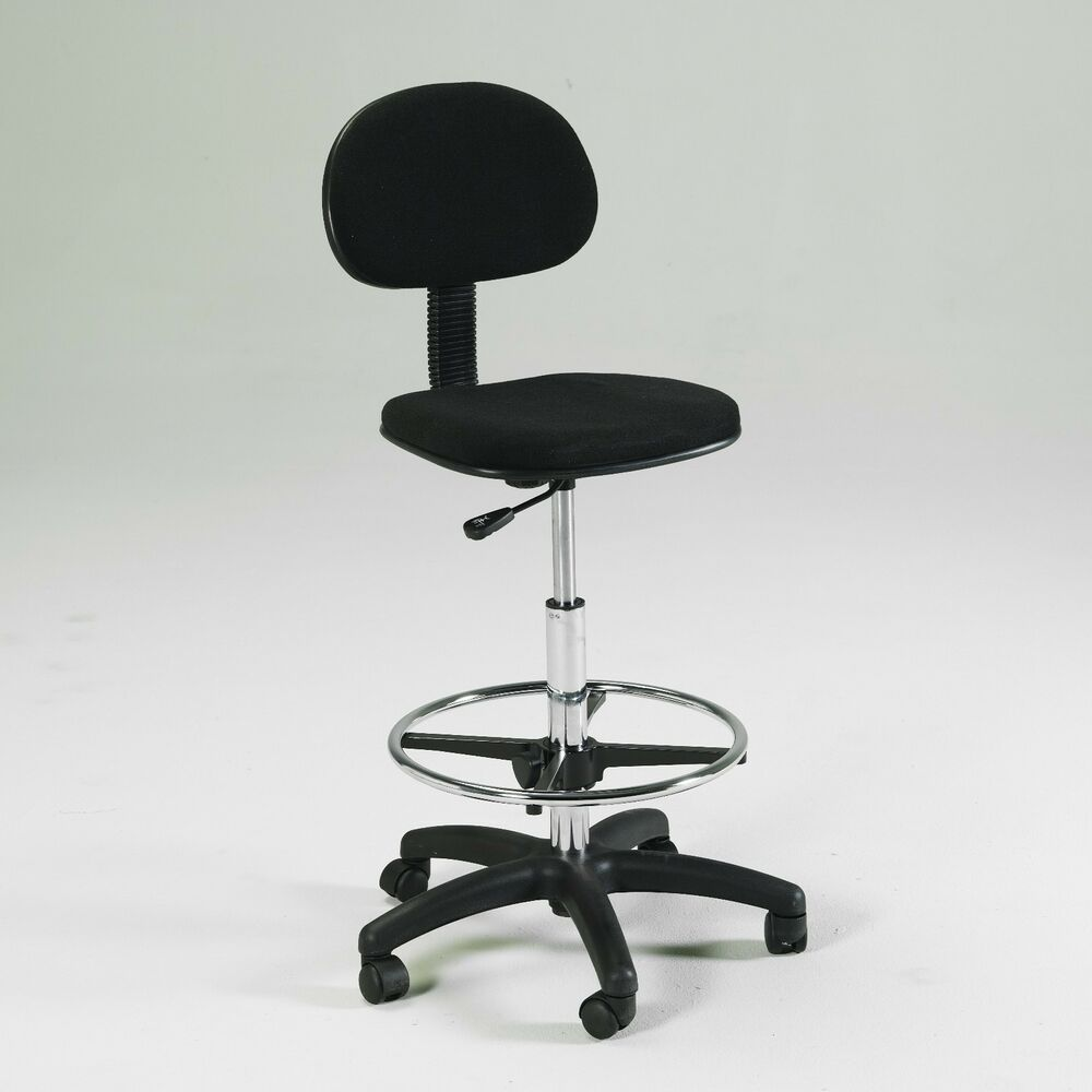 BLACK Counter Drafting Height Office Chair Stool  : s l1000 from www.ebay.com size 1000 x 1000 jpeg 41kB