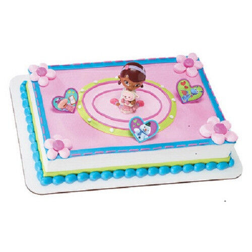 Doc Mcstuffins Birthday Cake Kit Topper Featuring Doc And