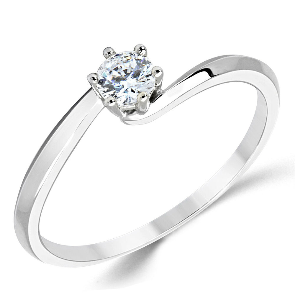 cubic zirconia wedding rings 14k solid white gold cz cubic zirconia solitaire 3220