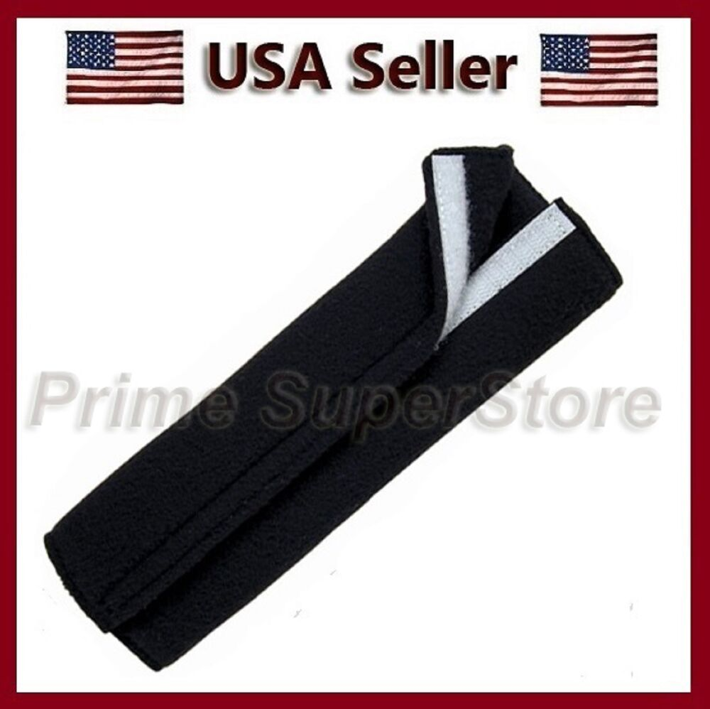 1 premium black fleece seat belt comfort pad covers dress