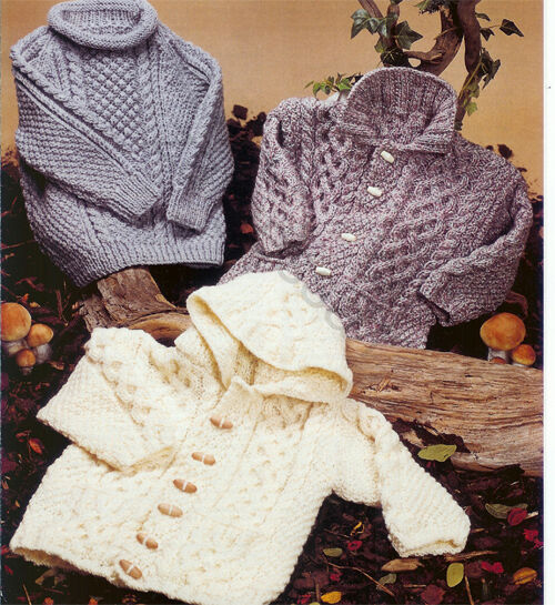 Aran Knitting Pattern With Hood : Lovely Aran Hooded Duffle Jacket & sweater Knitting ...