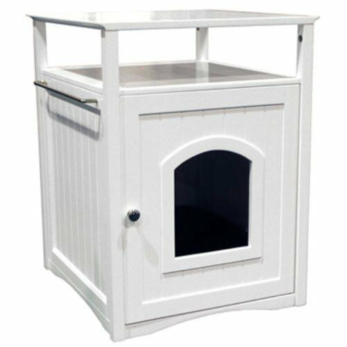 Cat litter box cover bathroom space saver night stand for Space saving nightstand