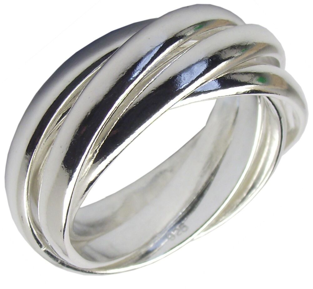 Russian 5 band ring 925 sterling silver various sizes for The sterling