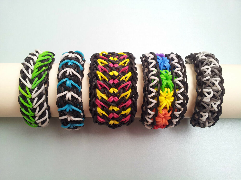 Lot Of 5 Rainbow Loom Bracelets Galaxy Starburst Arrow