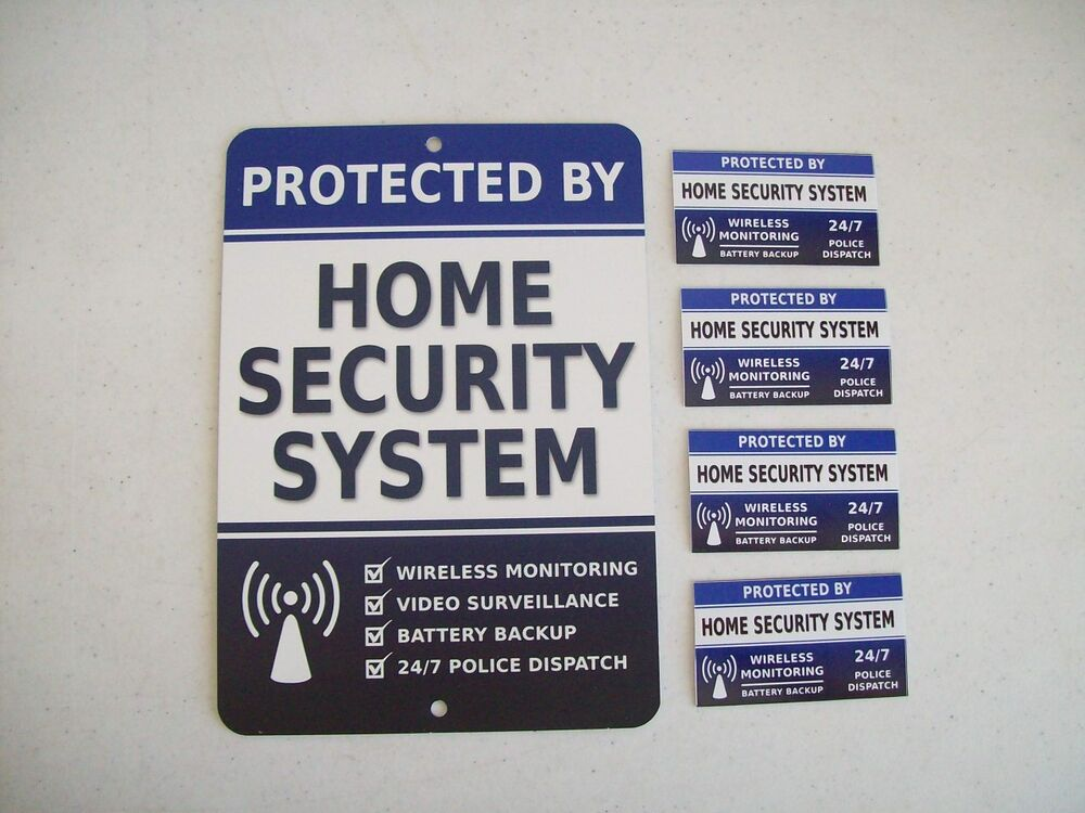 Home Security Alarm System Yard Sign Amp 4 Window Stickers