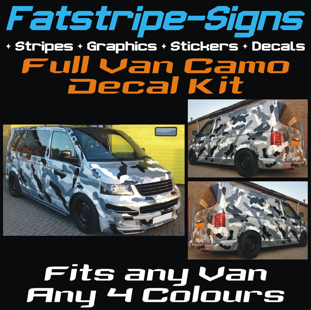 Full Van Car Camo Kit Graphics Stickers Decals Camouflage