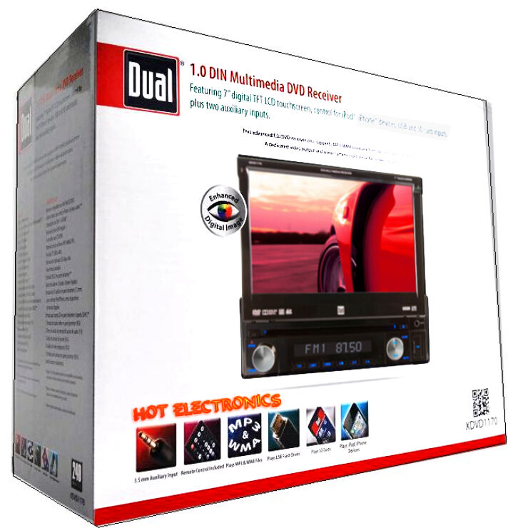 dual xdvd1170 in dash 7 touch screen dvd cd mp3 usb fm. Black Bedroom Furniture Sets. Home Design Ideas