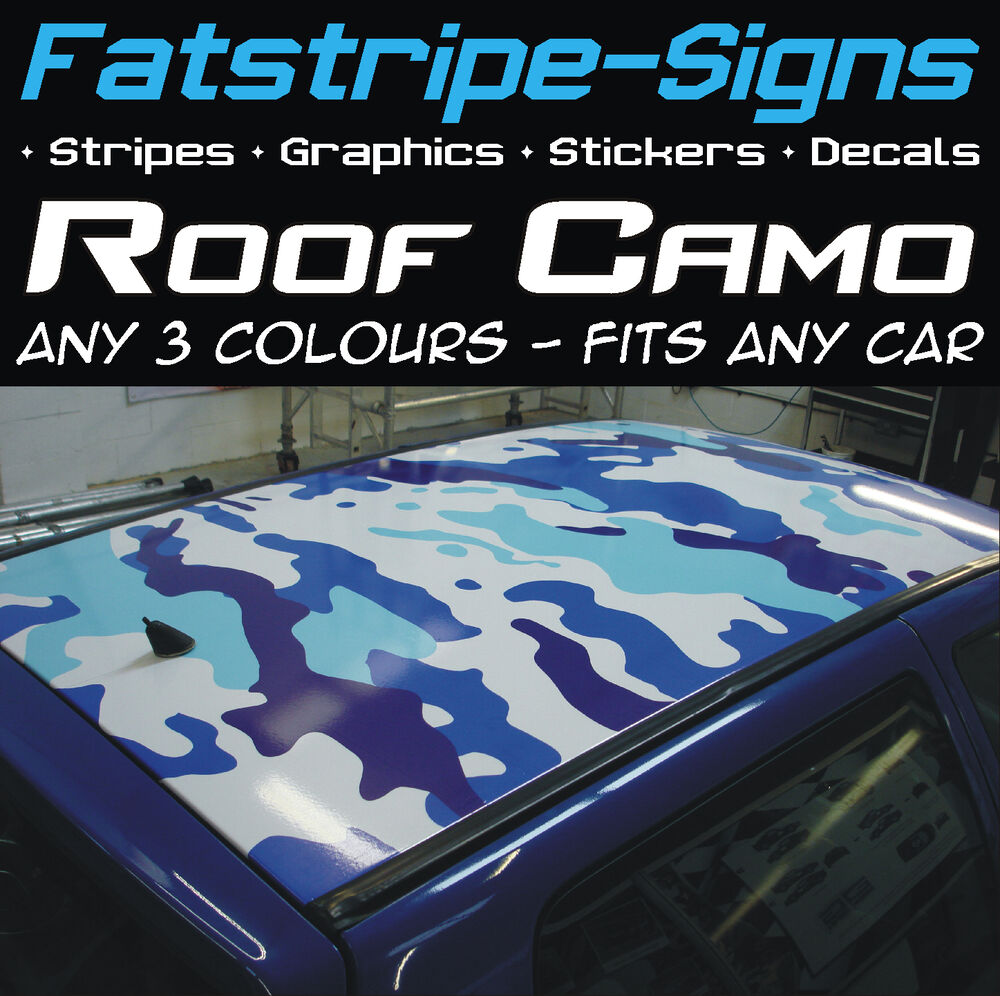 Full Car Roof Camo Kit Graphics Stickers Decals Camouflage