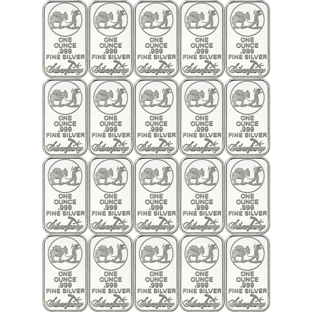 Silvertowne Logo 1oz 999 Fine Silver Bar Lot Of 20 Ebay